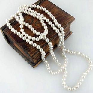 新款打结女项链优雅气质多层长链长款珍珠毛衣链旗袍配饰高贵饰品