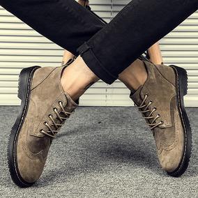 马丁靴男潮短靴棉靴英伦风高帮鞋男靴子韩版中帮冬季加绒保暖棉鞋