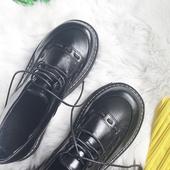 韩国ulzzang学院风女松糕厚底小皮鞋软妹英伦风单鞋原宿马丁鞋女