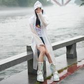 男女徒步旅游上班便携 包邮 雨衣雨披带帽 户外半透明成人EVA长款