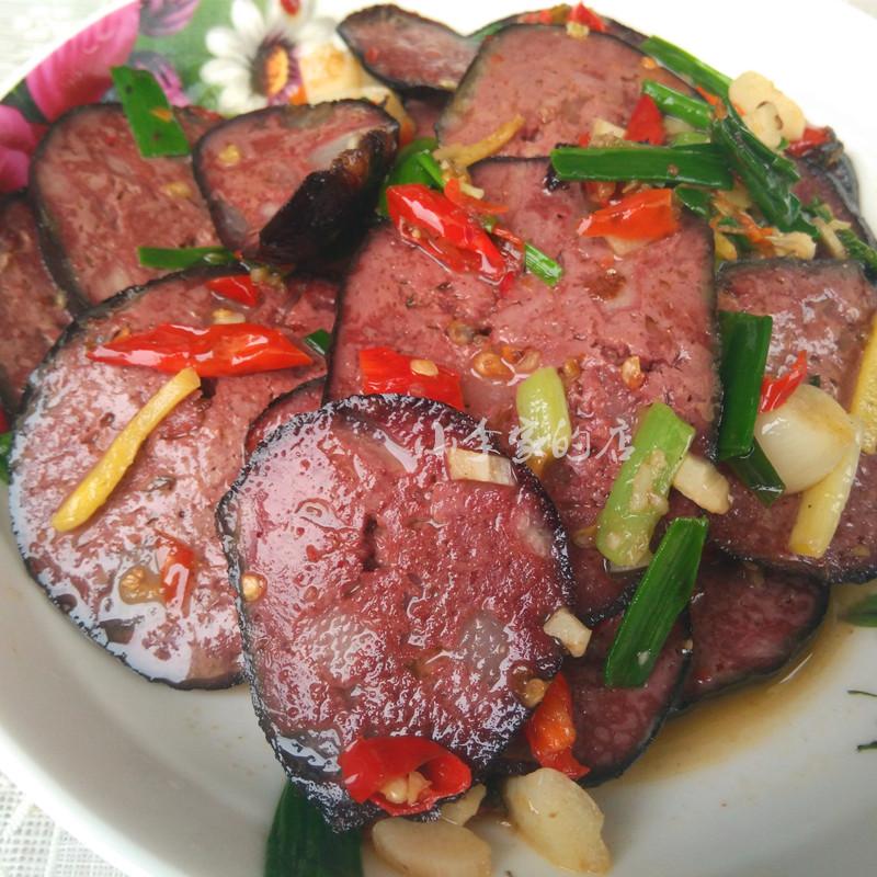 湖南邵阳特产农家制猪血丸子肉少些一份四个 600克 血粑3份送一个