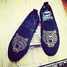 社会小伙鞋 男休闲帆布鞋 子夏季老北京布鞋 一脚蹬懒人韩版 豆豆潮鞋
