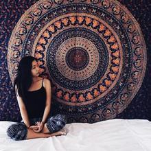 饰挂布壁挂装 饰毯休闲毯挂毯沙滩巾盖布桌布沙发布巾 印度曼德拉装