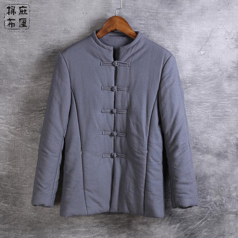 男装加厚冬季外套国风唐装棉衣男士中式服装棉袄大码棉服男复古