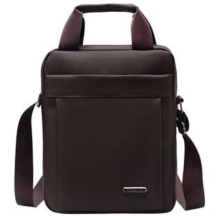 男士竖款手提包牛津布纺男包单肩斜挎包休闲商务公文包电脑包潮流