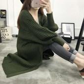天天特价春季新款毛衣开衫女中长款秋冬加厚条纹大码针织衫外套