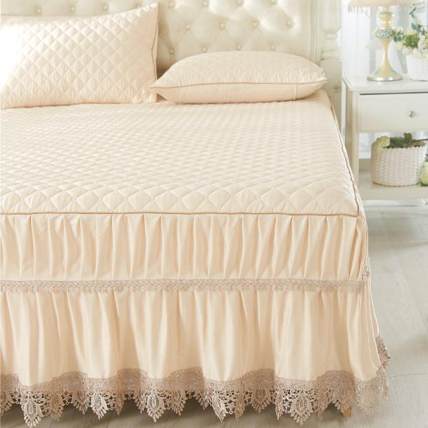 欧式蕾丝夹棉床裙床罩单件夏季席梦思床垫保护套床裙1.5m1.8米2m