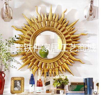 欧式电视柜壁挂摆件金属玄关不锈钢壁饰酒店软装花