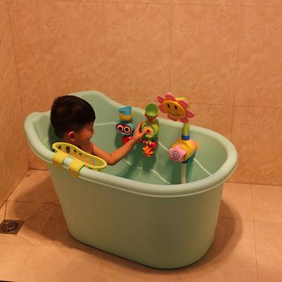 儿童洗澡桶宝宝澡桶加厚塑料保温可坐躺大号婴幼儿小孩泡澡桶盆