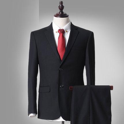 夏季高端男装西服套装男士商务绅士正装免烫西装上班职业装工作服