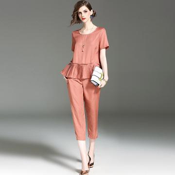 气质百褶时尚两件套装女