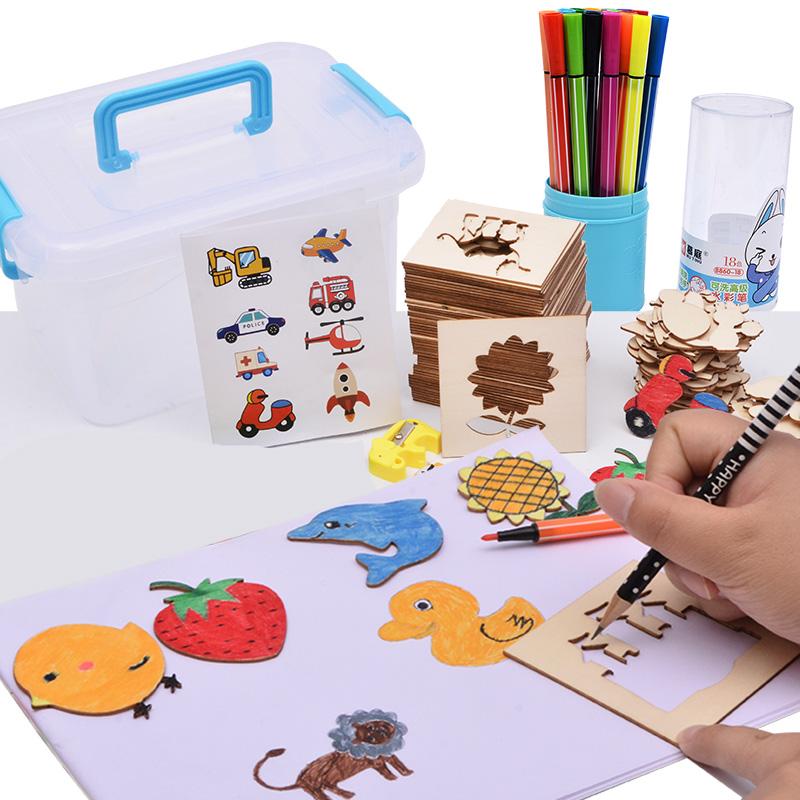 正品打折儿童学画画工具 宝宝涂鸦涂色填色描画绘画模板套装幼儿益智玩具 原价78.00元 现价38.00元包邮抢购专卖店品牌专卖