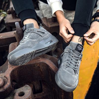 男鞋秋季潮鞋气垫鞋子男韩版潮流板鞋增高休闲鞋跑步鞋男生运动鞋