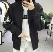 短款外套女春装2017新款潮学生韩版原宿bf宽松百搭刺绣夹克棒球服