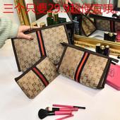 化妆包韩国旅行收纳包多功能女士大容量洗漱包防水布拉链零钱包袋