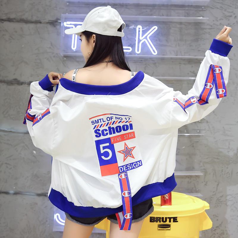 时尚夏季宽松棒球防晒外套