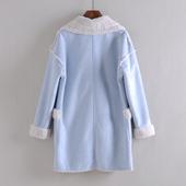 大衣棉服 新品 2017冬款 牌折扣女羊羔毛保暖中长款 新款 热卖 AG系列图片