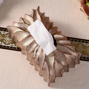 欧式高档陶瓷纸巾盒奢华个性创意客厅装饰摆件复古