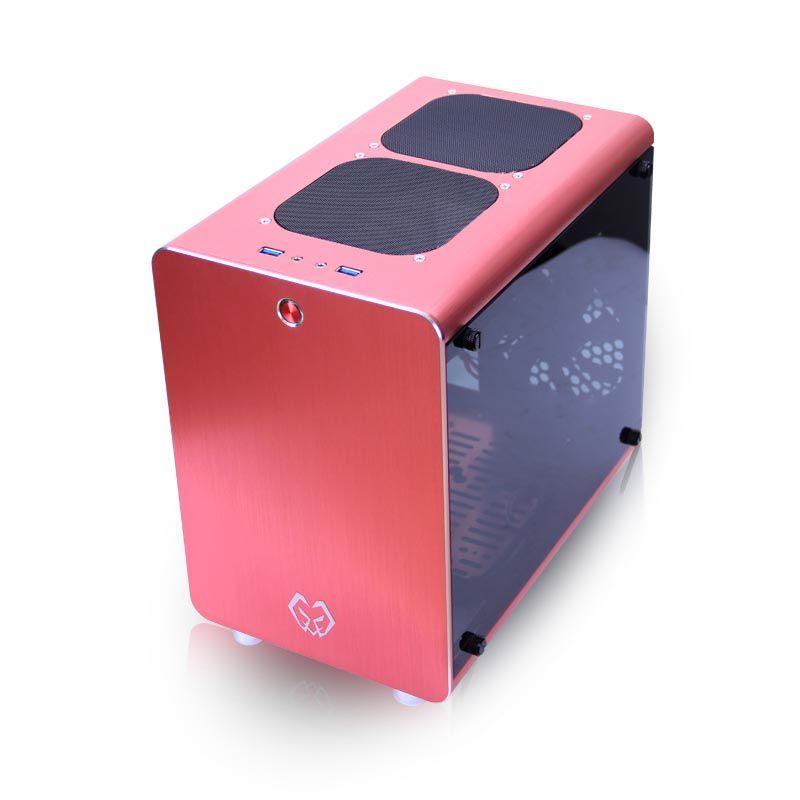 SKTC/游戏未来机箱Q2全铝小机箱钢化玻璃侧透ITX/uATX小钢炮