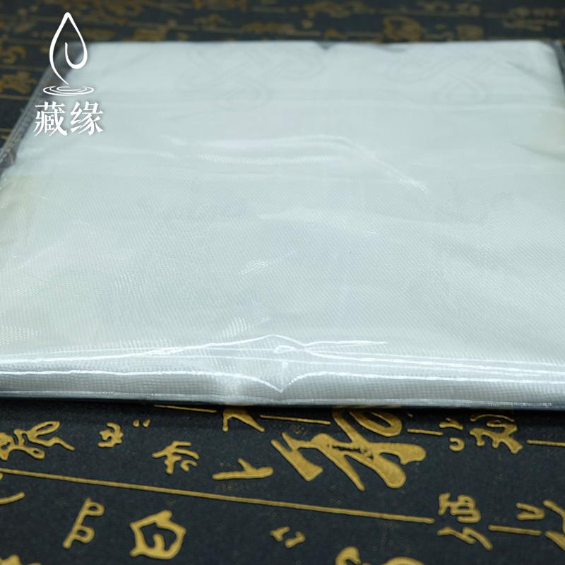 佛教用品哈达批量发藏族蒙古白色八吉祥暗花藏文阿嘻哈达180*20CM