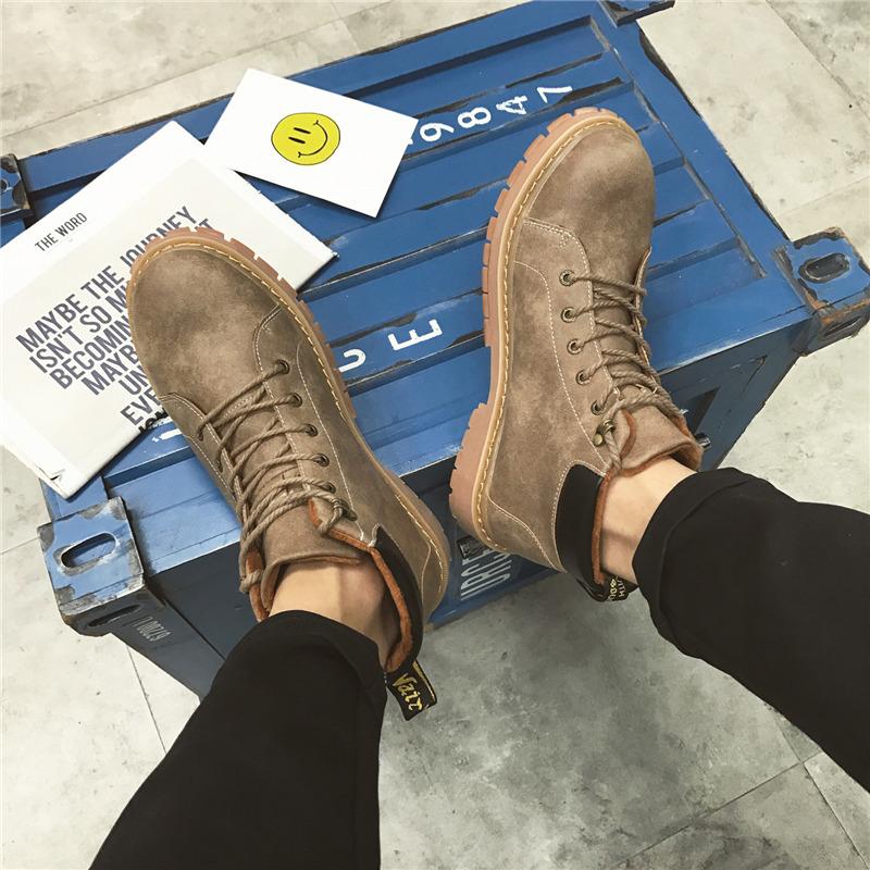 男鞋冬季2016新款潮鞋马丁靴短靴皮鞋复古加绒靴子男士高帮鞋子男
