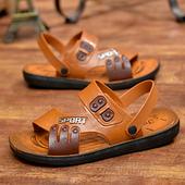 韩版 镂空露趾两用凉拖鞋 凉鞋 休闲时尚 平跟透气爸爸沙滩鞋 夏季男士