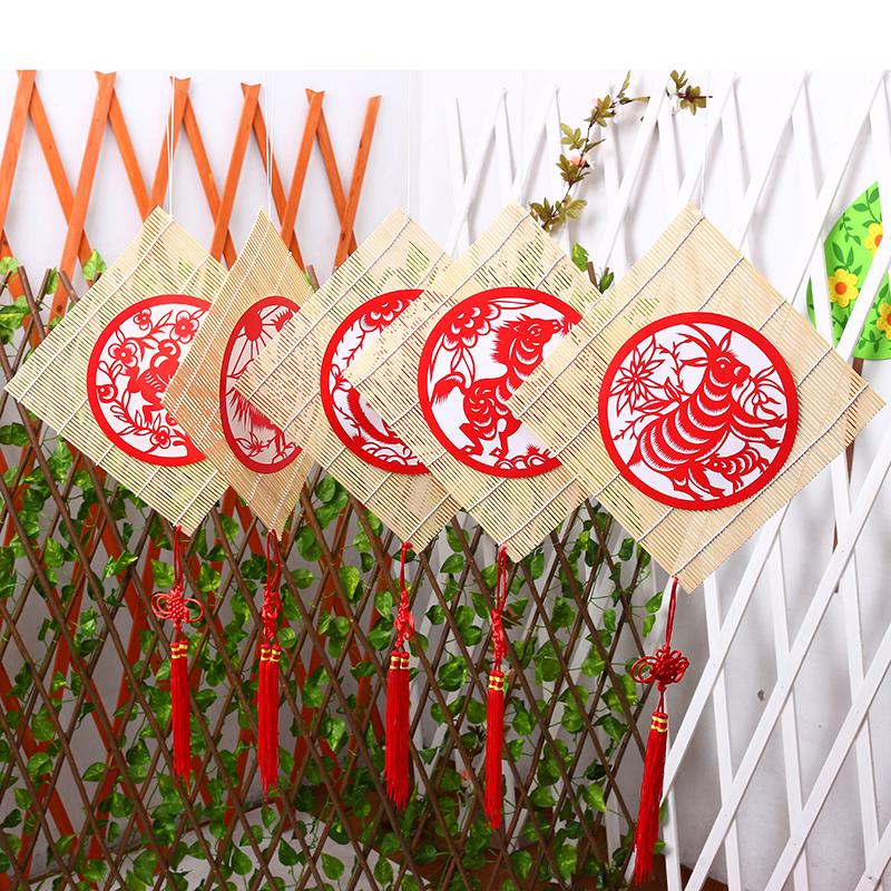 幼儿园装饰十二生肖挂饰中国风diy走廊教室用品空中