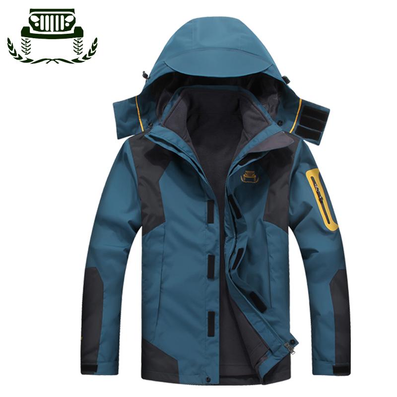 登山服保暖防水秋冬冲锋情侣三合一两件套户外男女透气