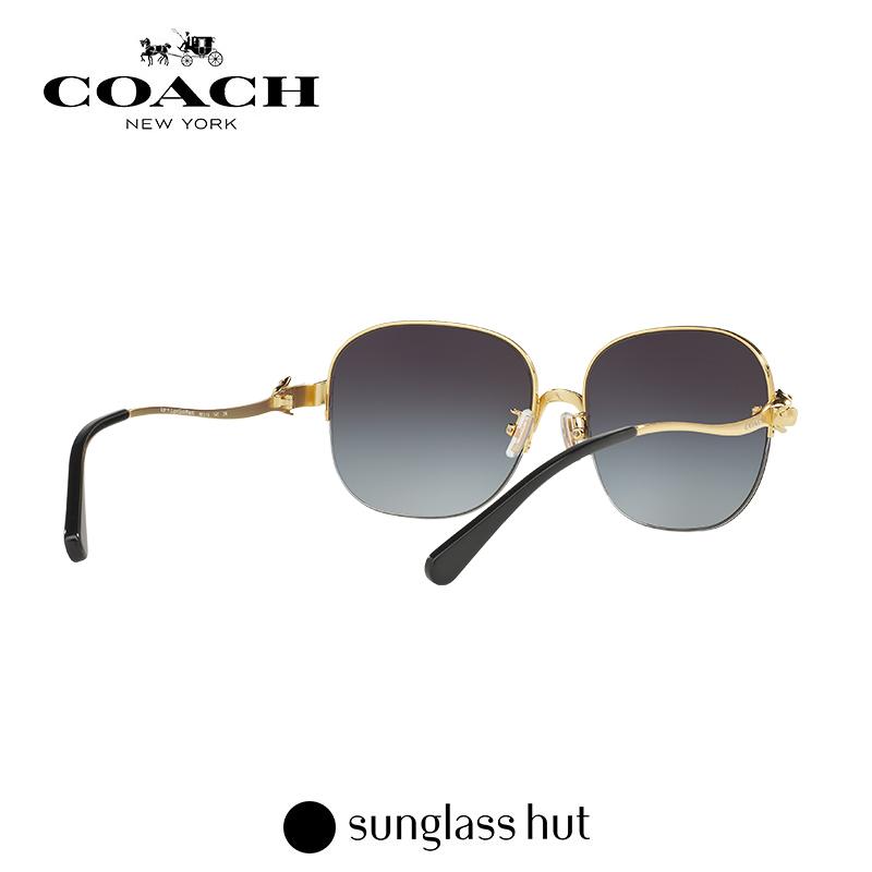COACH/蔻驰 圆脸个性时尚渐变墨镜女 防紫外线方形太阳镜HC7068
