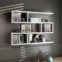 酒架创意墙上置物架壁挂墙架吊柜挂柜墙壁柜现代简约墙柜书架书柜