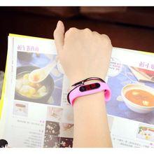 新款小米手环手表学生男女情侣表夜光韩国时尚运动智能手表