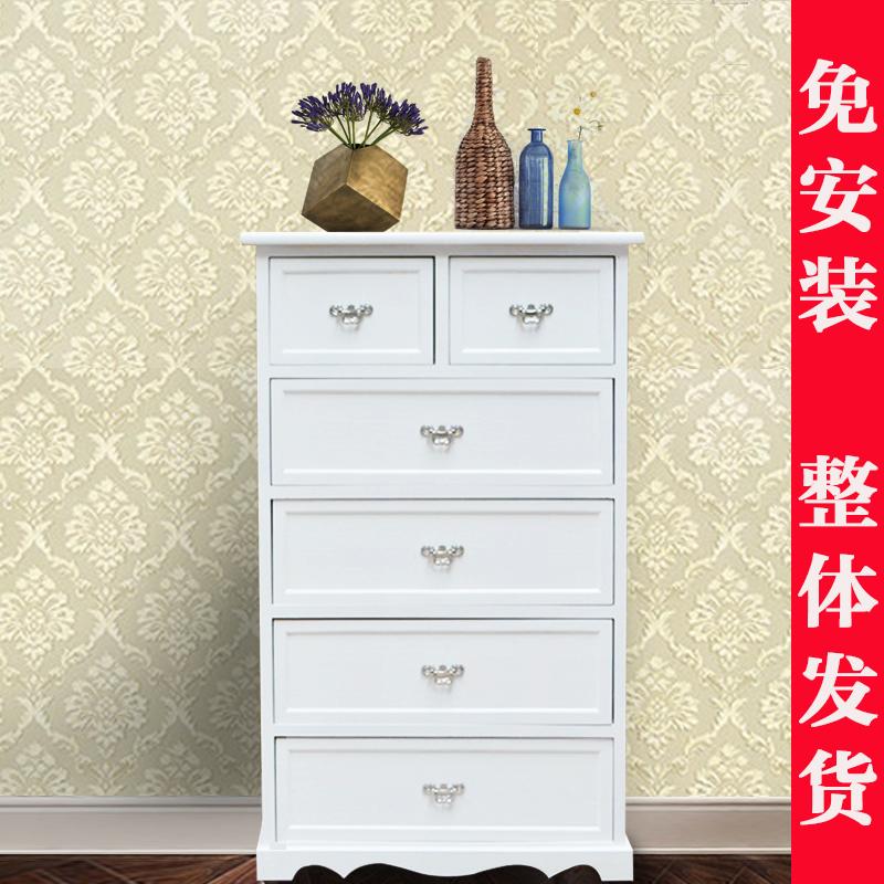 美式欧式五六斗柜简约现代实木卧室收纳储物抽屉式五斗橱整装特价