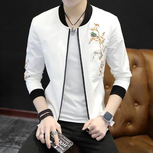 男士夹克2017秋季新款青年学生春秋装韩版修身潮流男装薄款外套男