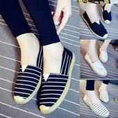 女士学车练车渔夫帆布孕妇单鞋 夏季 草原公主一脚蹬平底老北京布鞋