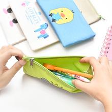 笔袋学习用品铅笔盒女文具盒简约帆布创意韩国儿童小清新男小学生