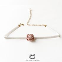 玫瑰花朵花苞CHOKER颈带项圈 女孩锁骨链饰品 细款项链 精致设计