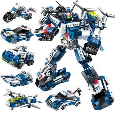 启蒙积木兼容乐高变形系列金刚6儿童8拼装玩具男孩10岁机器人
