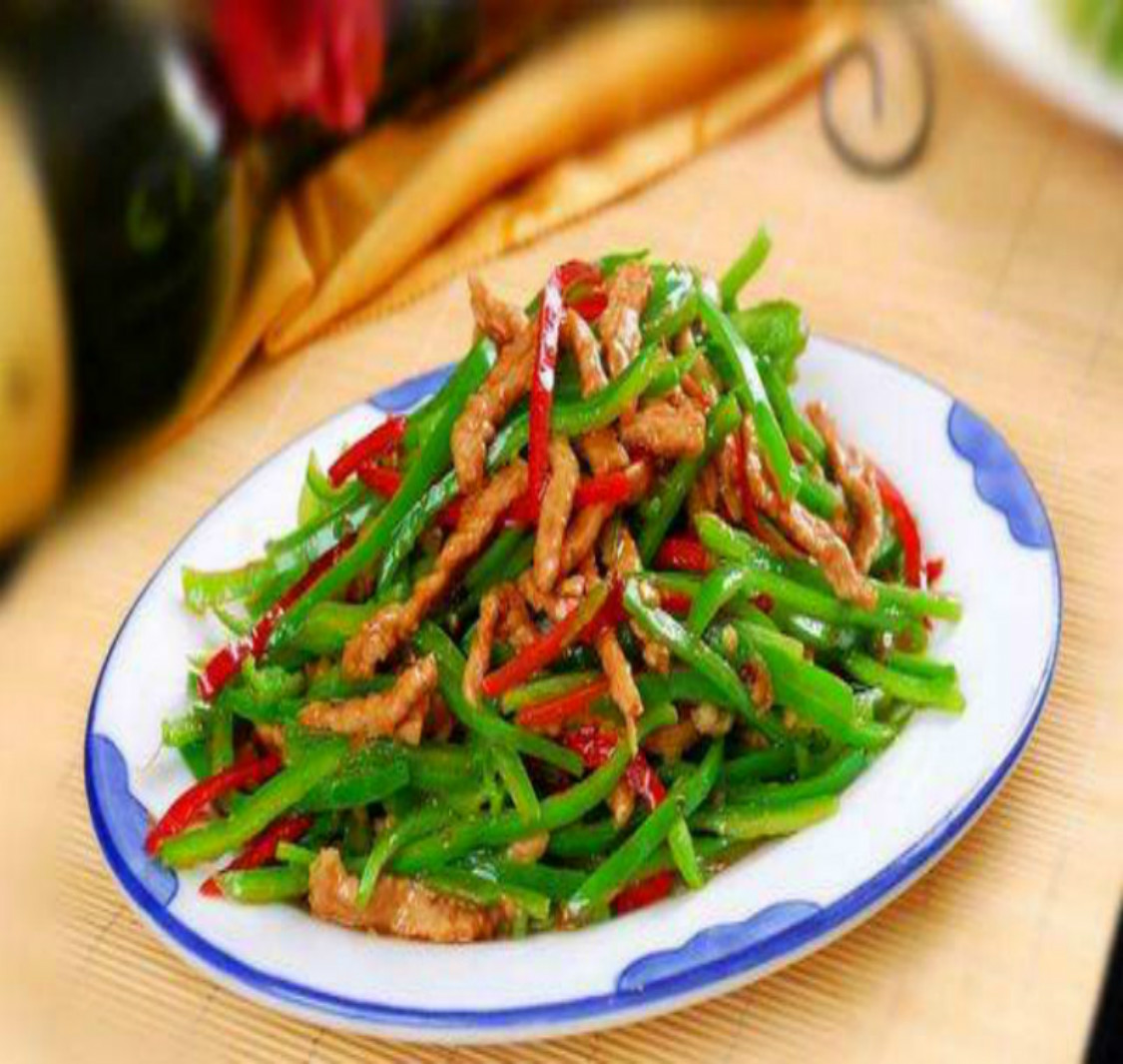 冲冠特价 青椒炒肉丝  三亚聪润海鲜餐馆订餐