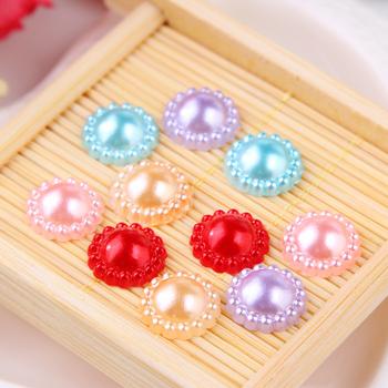 花盘珍珠贴片圆盘珍珠发饰头饰发夹儿童diy饰品钻盘手工材料配件