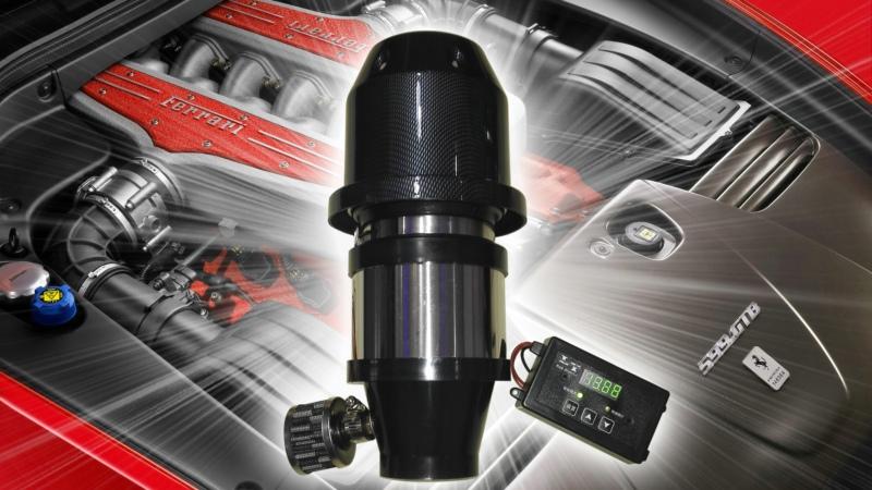 力原双涡轮进口电机电子电动涡轮增压器改装进气动力改装
