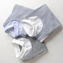 日本h*neys原单 假两件条纹针织背心衬衫