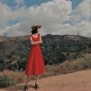 大喜自制  罗马假日 经典款vintage 高腰显瘦气质优雅连衣裙