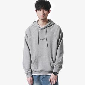 二十八间春季男装百搭基本款纯色灰色连帽卫衣潮男青年学生上衣男