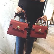 凯莉包女士包包2017新款潮手提包女韩版小包包简约百搭单肩斜挎包