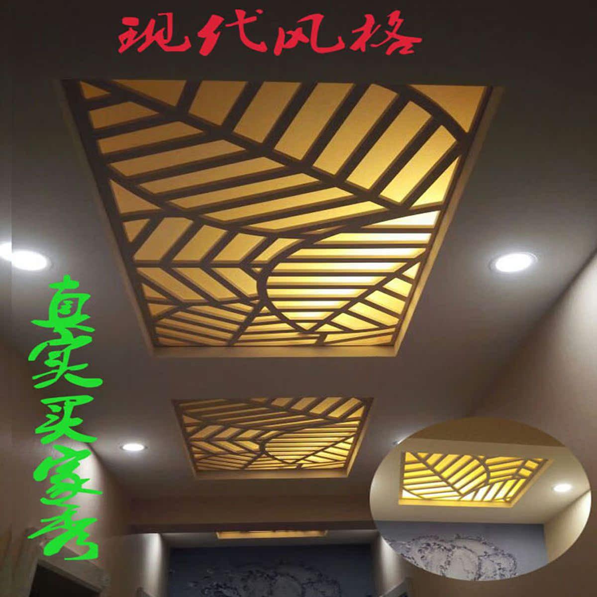 现代镂空吊顶PVC木塑板镂空雕花隔断玄关背景墙花格背景墙通花板