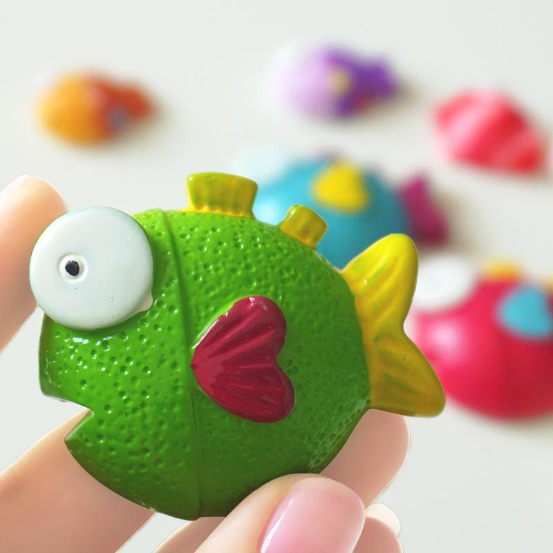 天天特价一套包邮卡通立体小鱼创意冰箱贴磁贴磁扣萌物冰箱装饰品