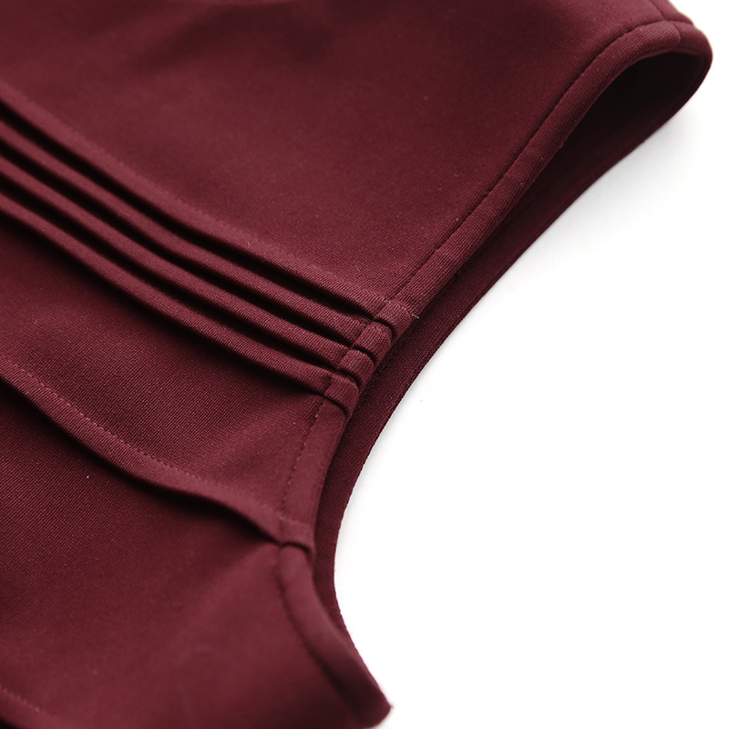 皮克茜·洛特(Pixie Lott)同款红色无袖连衣裙