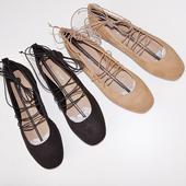 2017新款女鞋韩版复古罗马交叉绑带方头平底单鞋芭蕾舞鞋玛丽珍鞋