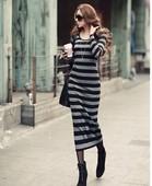 毛衣裙 包臀超长打底衫 针织衫 大码 修身 秋冬羊绒长裙过膝连衣裙长款