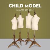 儿童包布模特道具半身橱窗展示 童装模特女服装店小孩模特架
